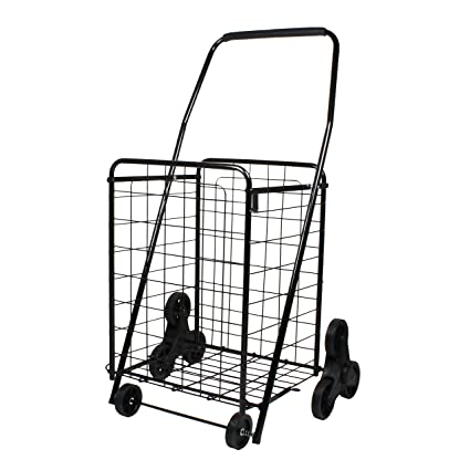 b8c643000f54 Helping Hand Folding 3 Wheel Stair Climbing Cart, Black