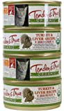 Tender & True 854018 Organic Turkey & Liver 5.5 oz canned wet cat food, One Size