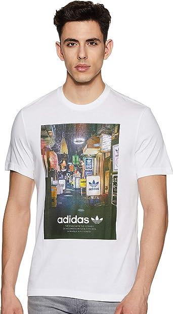 adidas - Camiseta con Foto de Calle para Hombre: Amazon.es: Ropa y accesorios