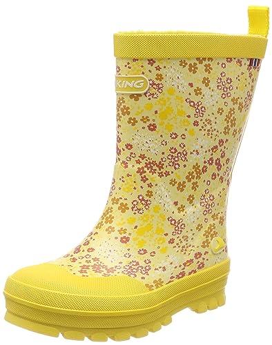 Viking Jolly, Unisex-Kinder Langschaft Gummistiefel, Gelb (Yellow 13), 27 EU