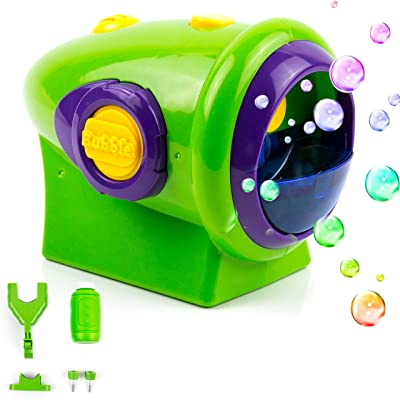 Toysery Automatic Bubble Machine for Kids - Bike Accessories for Kids - Durable Outdoor Bubble Blower Machine - Thousands of Big Bubbles with Bubble Machine Solution: Toys & Games