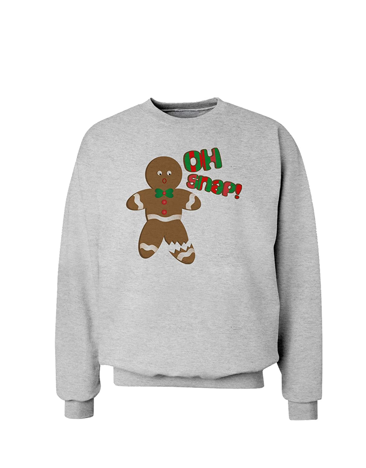 Amazon.com: Oh Snap Gingerbread Man Christmas Sweatshirt: Clothing