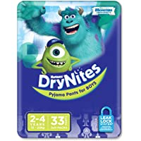 Huggies DryNites, Boys, Size 2-4 Years (Pack of 33)