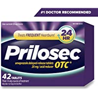 42-Count Prilosec OTC Omeprazole Frequent Heartburn Relief 20mg Tablets