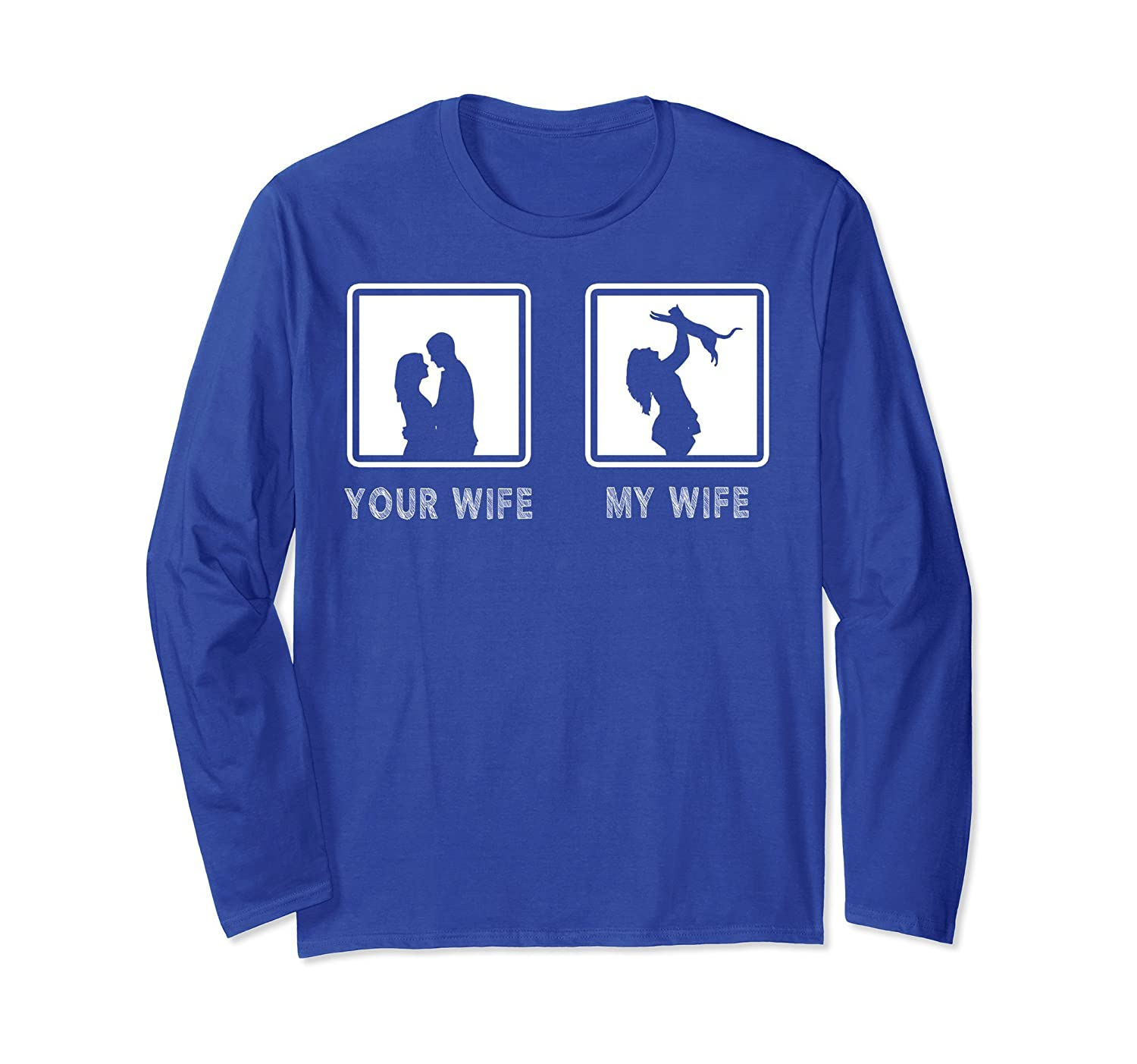 Your Wife My Wife Long Sleeve Cat Birthday Gifts For Husband-AZP