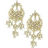 Jewellity Gold Pearls Dangle & Drop Earrings For Women's
