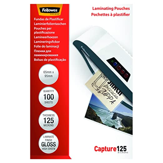 54 opinioni per Fellowes Pouches Lucide Capture125, 125 my, 65X95 mm, 100 Pezzi