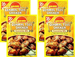 Sunbird General Tso's Chicken Seasoning Mix, 1.14 Ounce Packet (Pack of 4)