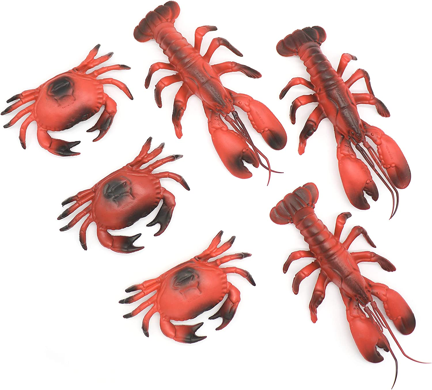 Lobster and Crab Nautical Decor Beach Decorations for Home | Beach Party Decorations 6 piece set