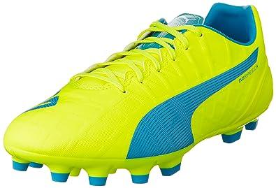 Puma Evospeed 4.4 AG, Herren Fußballschuhe, Gelb (Safety Yellow-Atomic Blue-White 04), 43 EU (9 Herren UK)