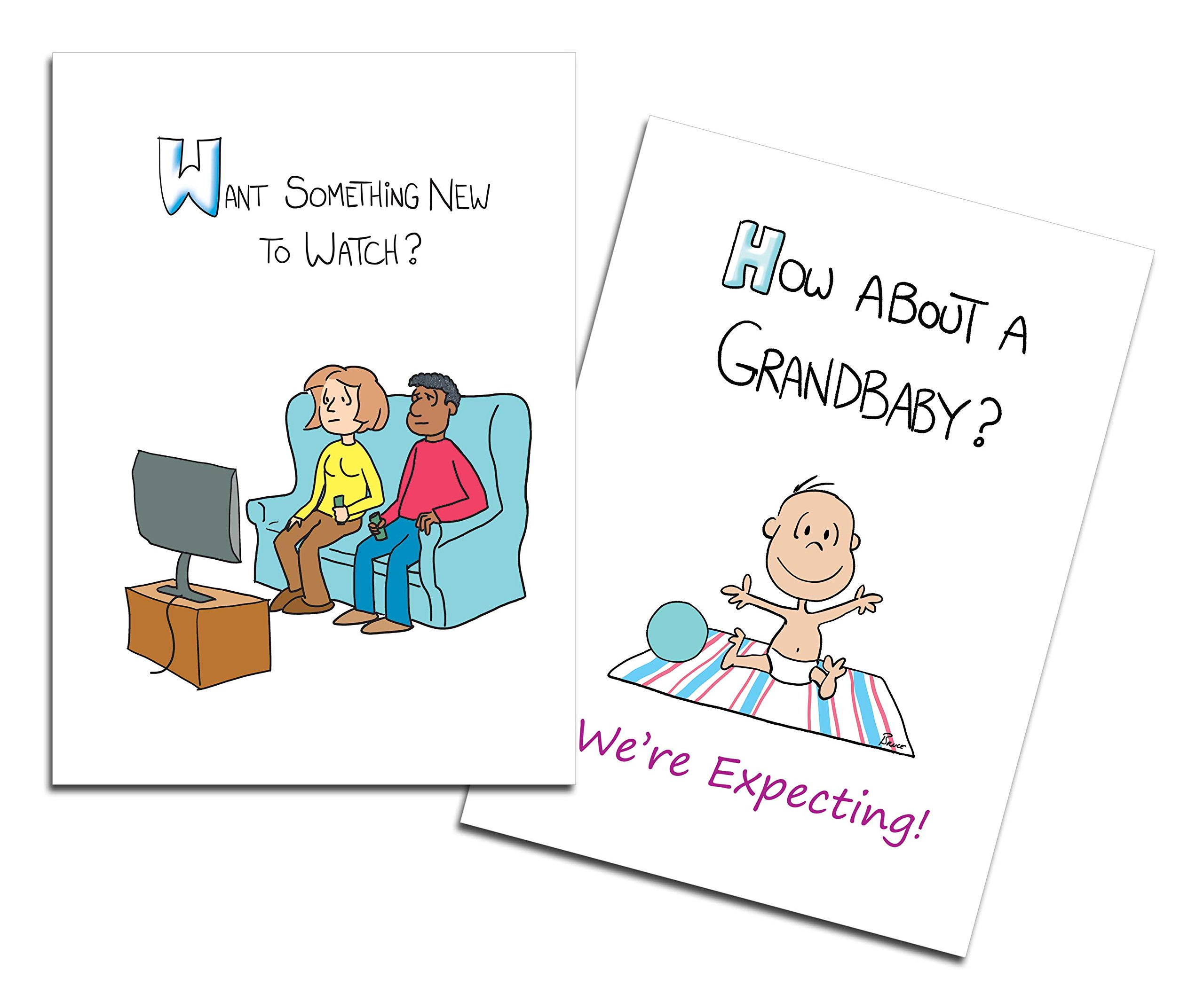 Dad's Castle Pregnancy Announcement - Grandparents Card, Something New to Watch, Mixed