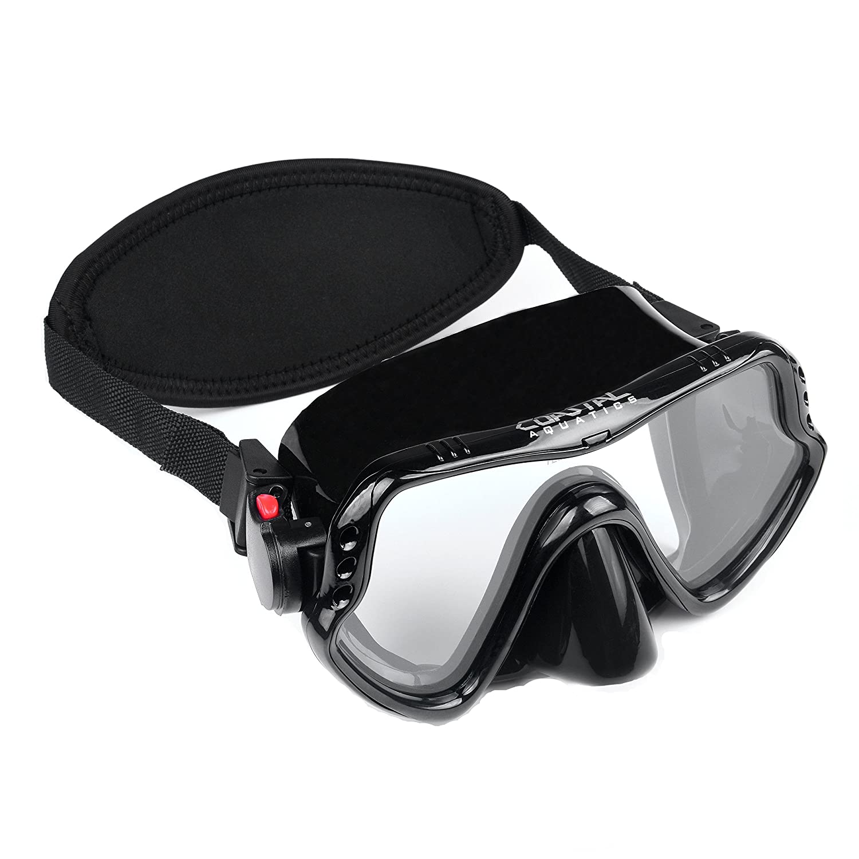 Neoprene Strap Cover Coastal Aquatics Adult Snorkel Mask Tempered Glass Scuba Mask Anti-Fog Lens Diving Mask