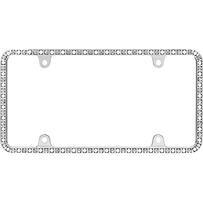 Cruiser Accessories 18250 Pearlesque License Plate Frame, Chrome/Clear: Automotive [5Bkhe0405281]