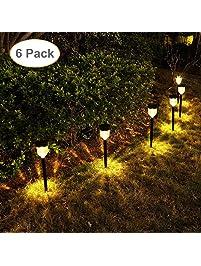 Path lights amazon geloo solar pathway lights 6 pack solar outdoor lights solar garden lights outdoor solar landscape lights aloadofball Image collections