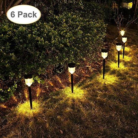 solar patio lights. GELOO Solar Pathway Lights 6 Pack Outdoor Garden  Landscape Solar Patio Lights