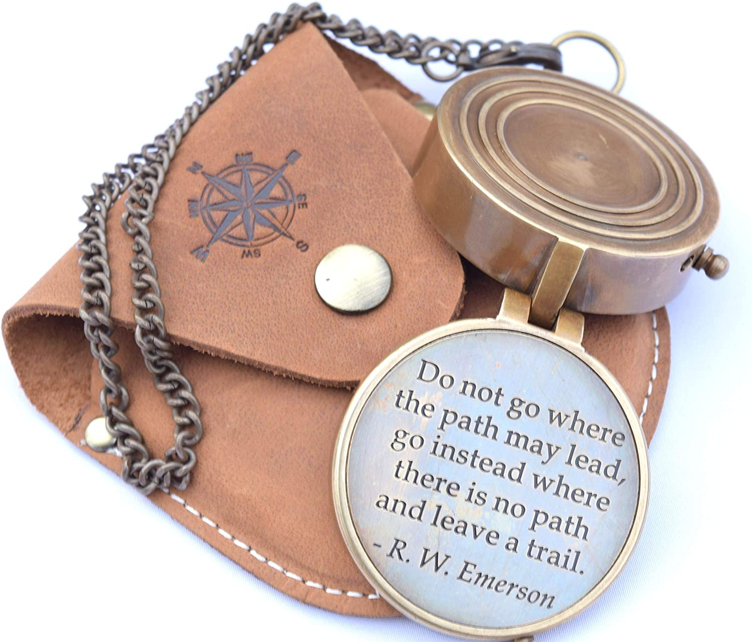 RIRHTAJUS Engraved Directional Compass for Boys, Graduating Students, Birthday boy, Get Well Soon Gifts