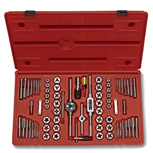 3. Neiko 00908A SAE and Metric Tap and Hexagon Die Set, Alloy Steel, 76-Piece Set