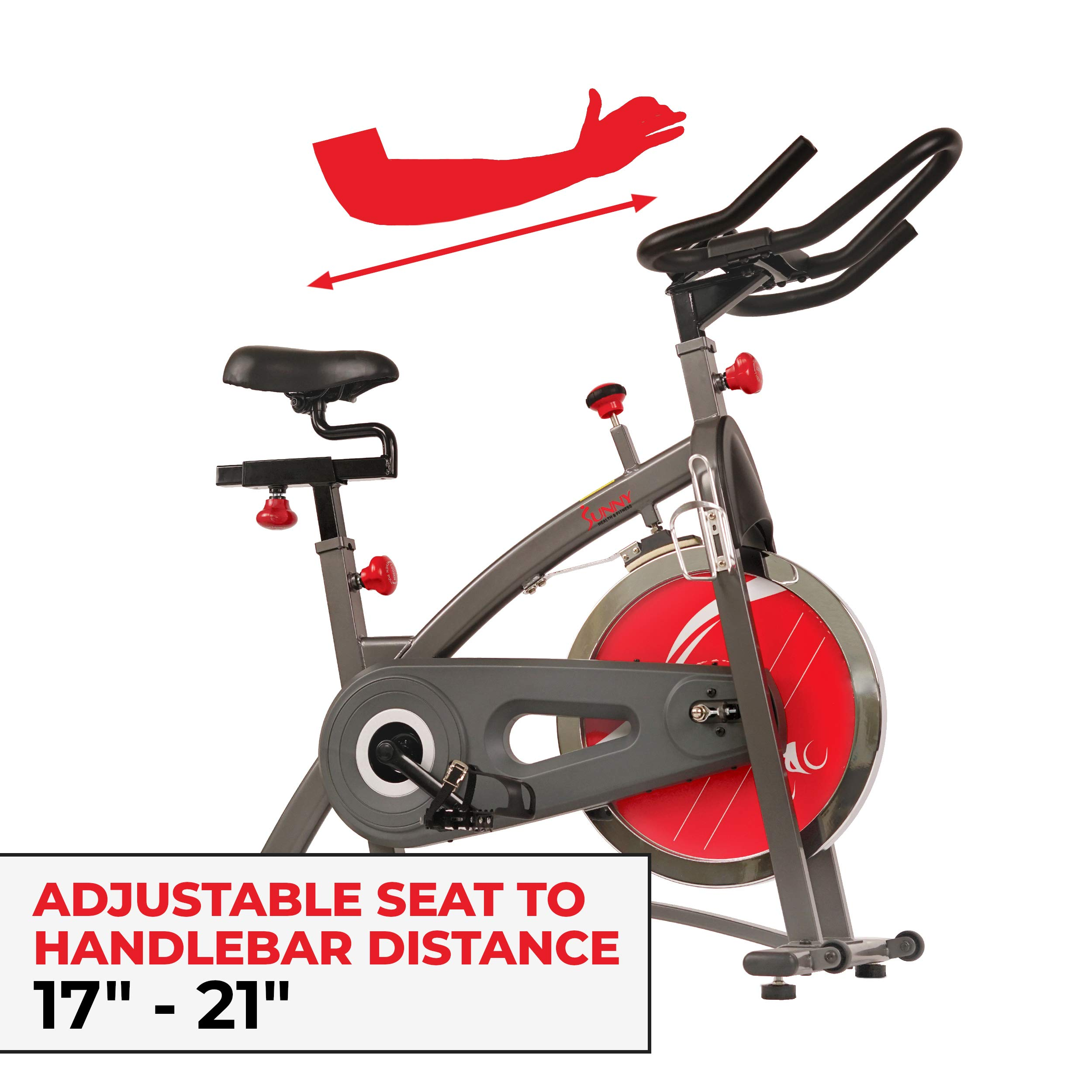 Sunny Health & Fitness Belt Drive Indoor Cycling Bike SF-B1423 by Sunny Health & Fitness (Image #13)