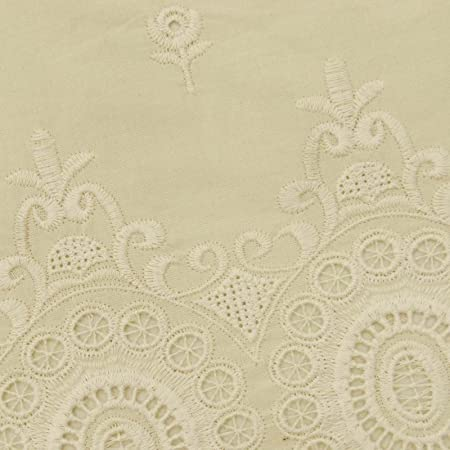 """40/"""" Wide Cutwork Designer Embroidered Cotton Sewing Fabrics Craft By The Yard"""