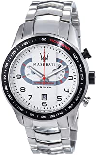 Maserati Mens Corsa R8873610001 Silver Stainless-Steel Analog Quartz Fashion Watch
