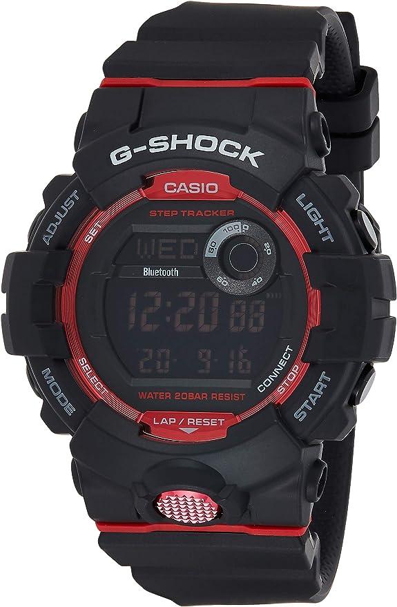Casio Reloj Digital para Hombre de Cuarzo con Correa en Resina GBD-800-1ER, Negro/Rojo: Amazon.es: Relojes