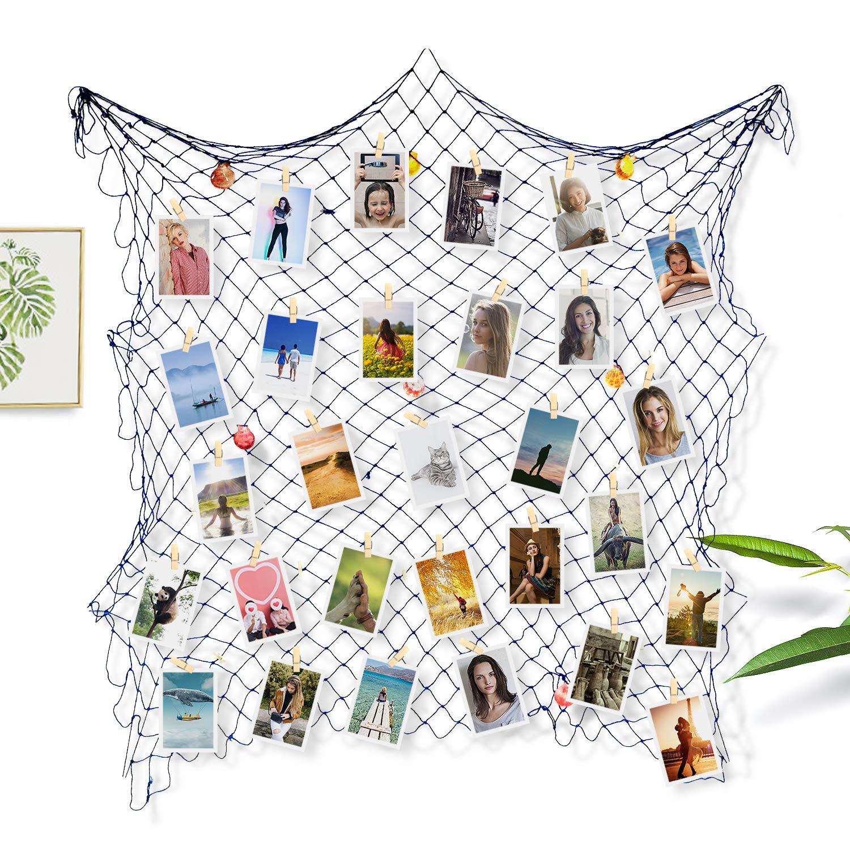 Sundell Photo Cadres Mural, Galerie Photo à Accrocher, Belle Décoration de la Maison Cadeau de Mariage et Anniversaire (Avec 50 Clips & 20 Ongles)