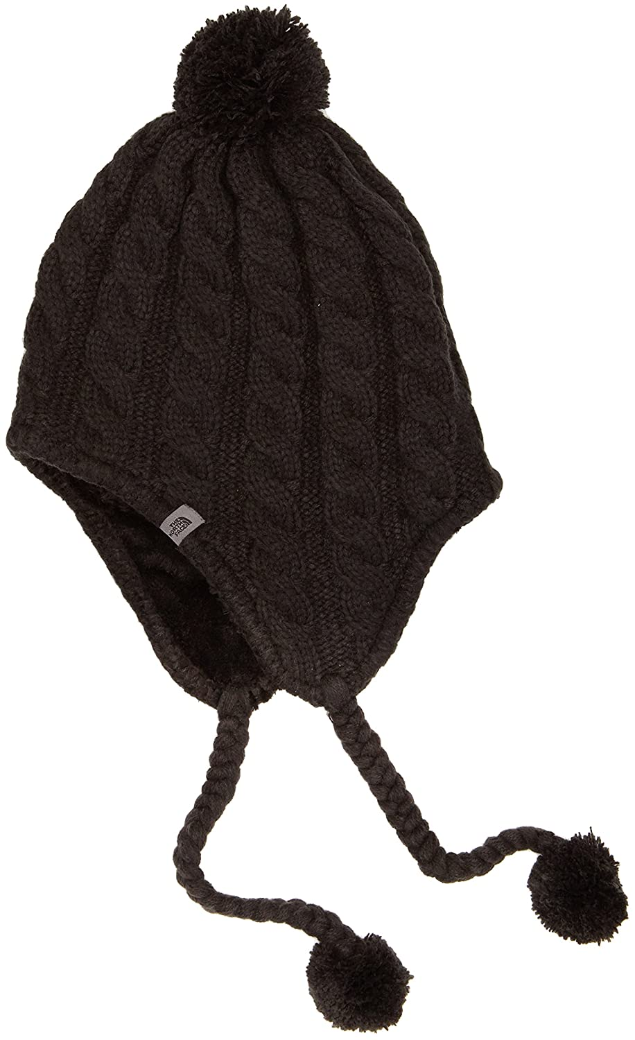 The North Face Fuzzy Ear Flap - Gorro para mujer, color negro, talla única