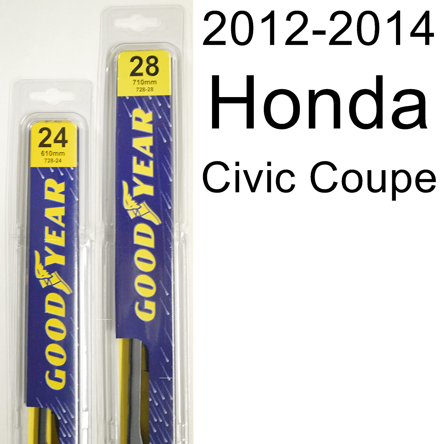 honda civic coupe 2012 2014 wiper blade kit set