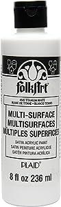 FolkArt Multi-Surface Paint (8 oz), , Titanium White