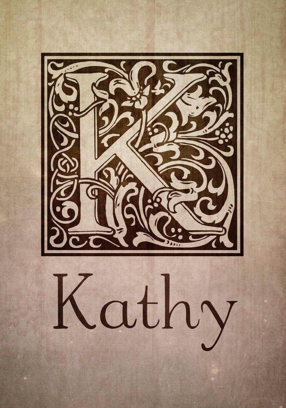K Kathy Kathy Name Personalized Journal Notebook Vintage William Morris Arts And Crafts Calligraphy Lettering Typography Style Monogrammed Journal Notebook Letter K Personalized Journals For Her Journals Mad Hatter 9781720723202 Amazon Com Books