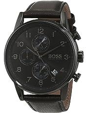 Hugo BOSS Reloj Cronógrafo para Hombre de Cuarzo con Correa en Cuero 1513497