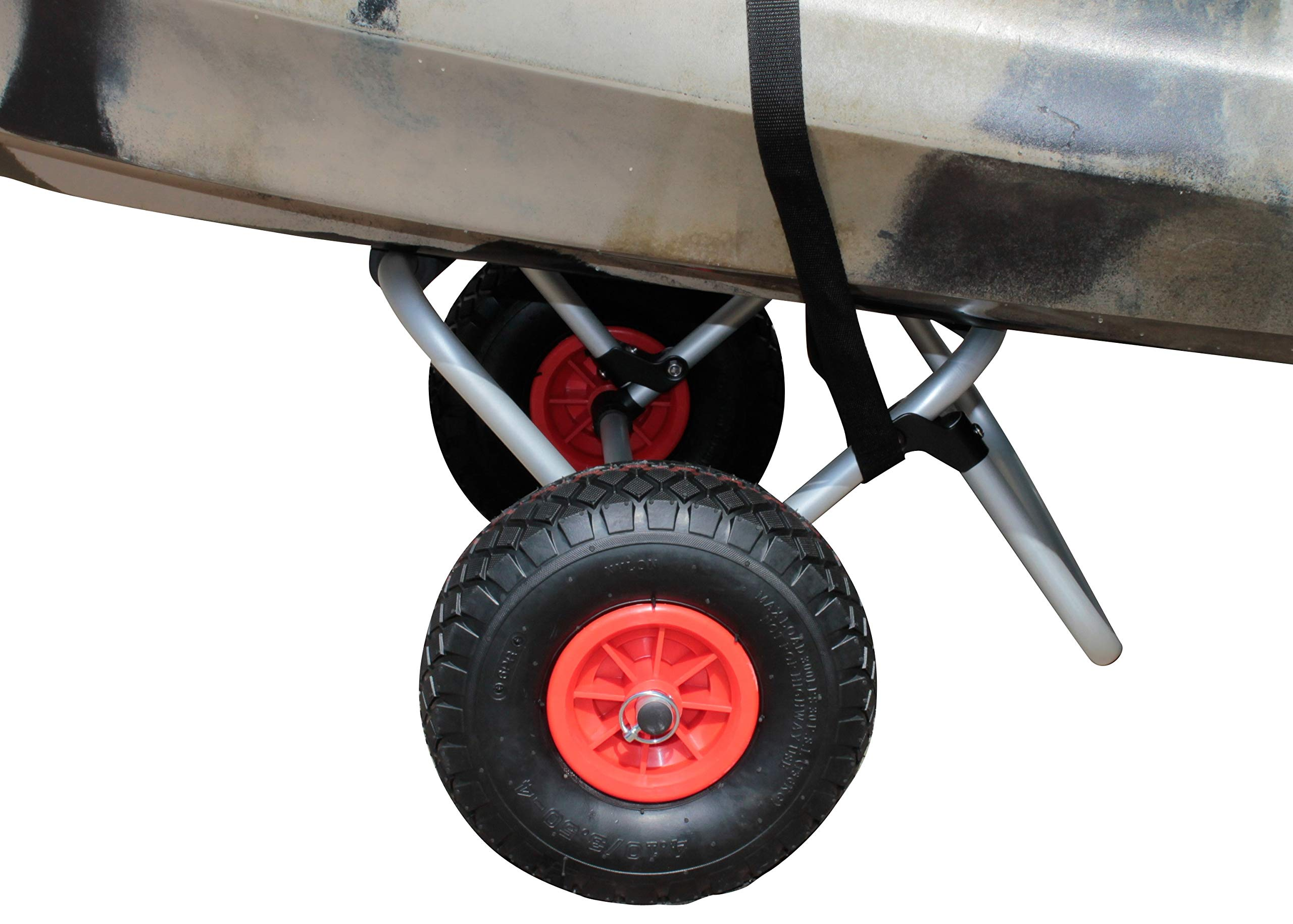 Brooklyn Kayak Company BKC UH-KC271 Kayak Cart - Two-Wheeled Cart for Kayaks, SUPs, Canoes - Easy Overland Transport of Personal Watercraft by Brooklyn Kayak Company