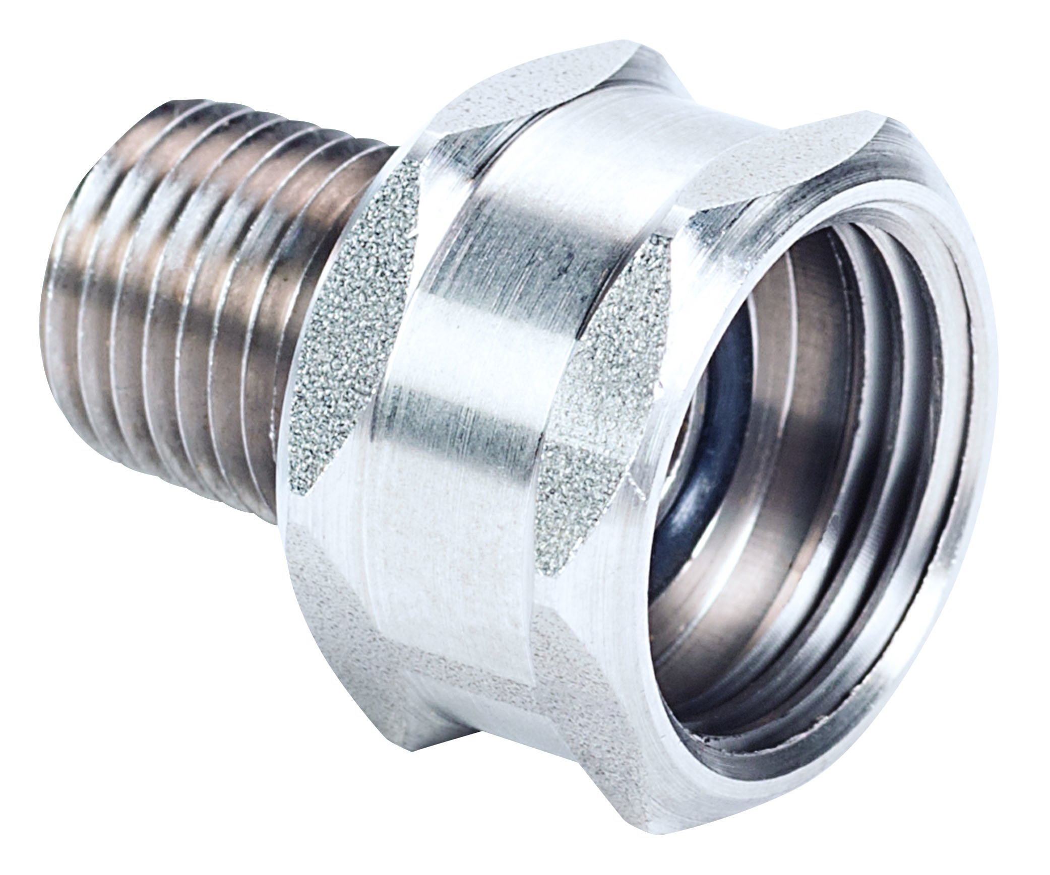 MSA 808360 Stainless Steel Union Adapter, 1/4 NPTM x 3/4 Hose