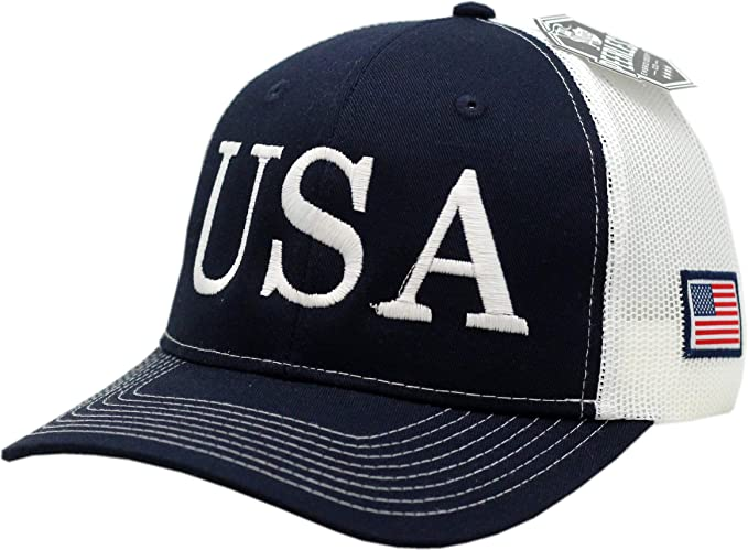 8e5a45ce513c7 Peerless Embroidery Company USA Trump Hat 45th President Make ...