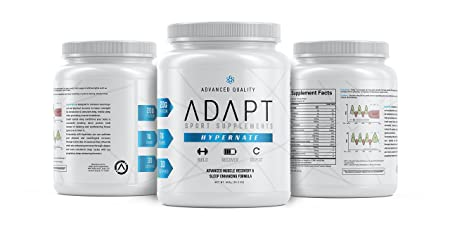 ADAPT HYPERNATE Micellar Casein Protein Powder Natural Sleep Aid and Muscle Recovery Supplement Low-Carb 30 Servings, Chocolate
