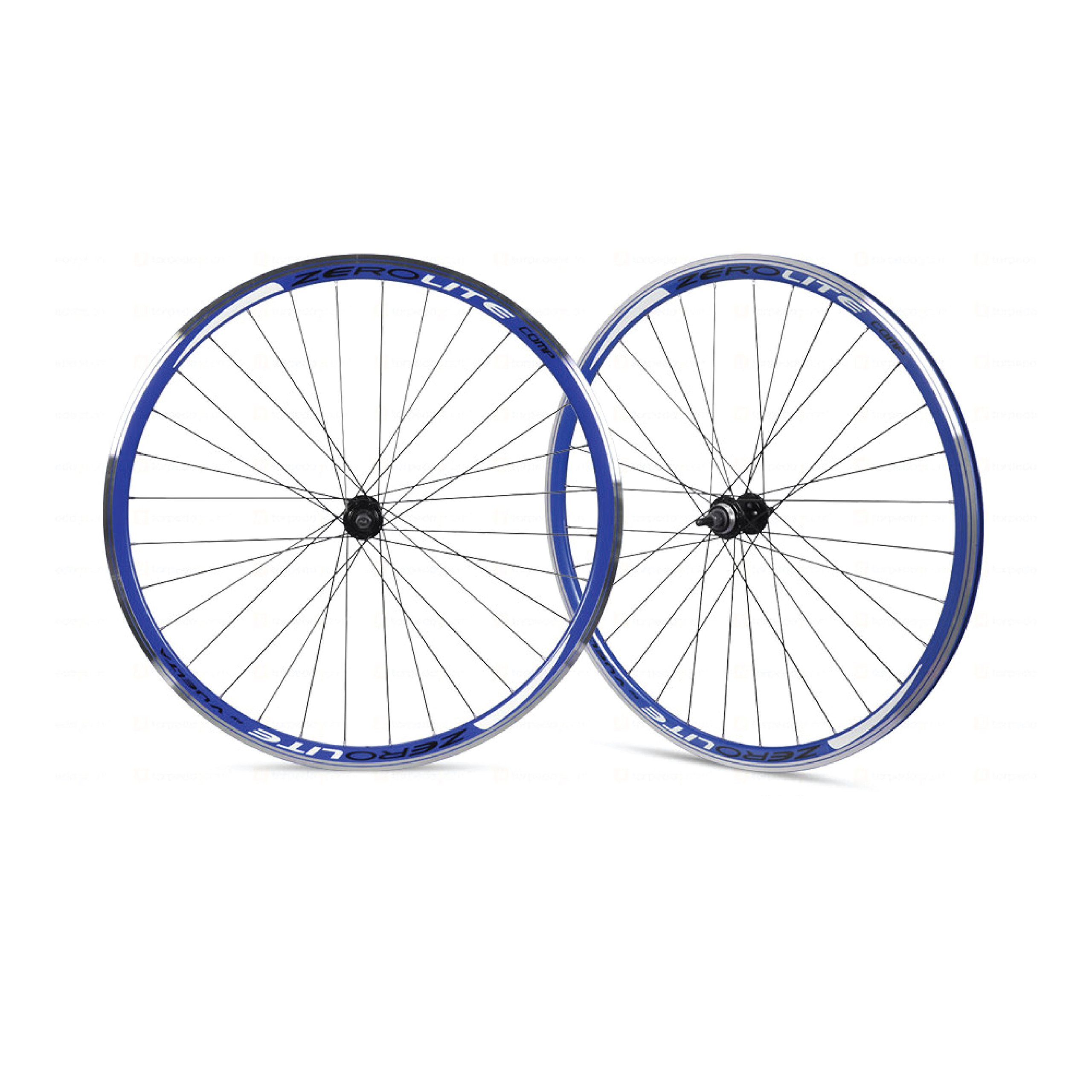 Vuelta ZeroLite Track Comp 700C Wheel Set (Blue) by Vuelta