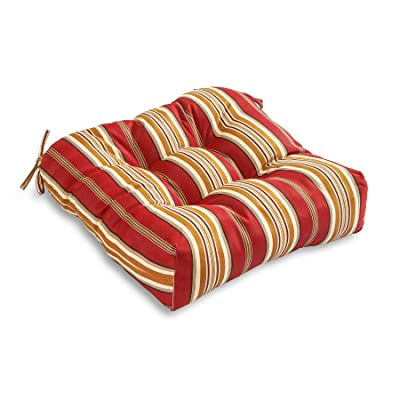 South Pine Porch AM4800-ROMA Roma Stripe Outdoor 20-inch Seat Cushion : Garden & Outdoor