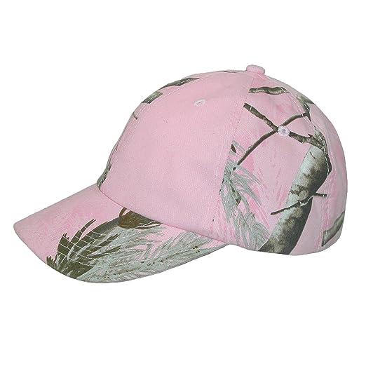 81c8932fe1b CTM Women s Kati Treestand Pink Camo Baseball Hat