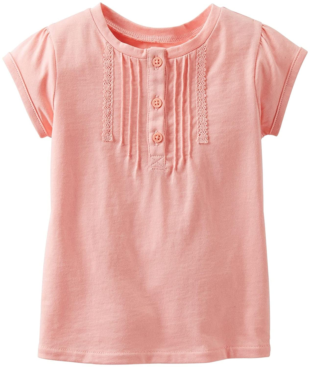 - Peach 6 Months Carters Baby Girls Lace Tee Baby