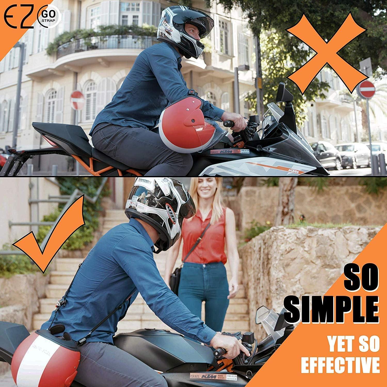 Ez Go Motorradhelm Schultergurt Längenverstellbarer Tragegurt Für Helme Mit Ratschenverschluss Für Freie Hände Motorrad Zubehör Für Erwachsene Black Sport Freizeit