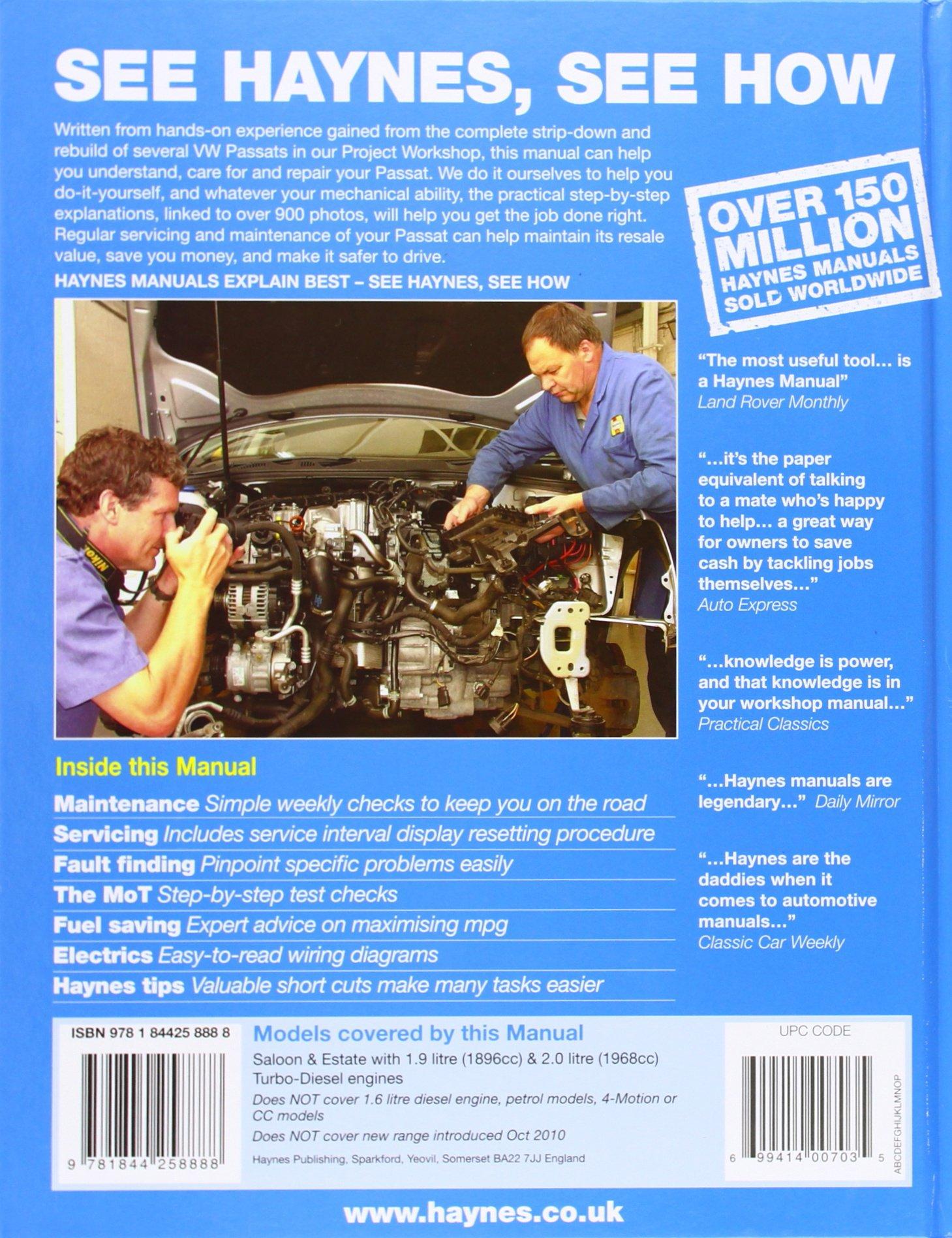 VW Passat Diesel Service and Repair Manual: 2005 to 2010