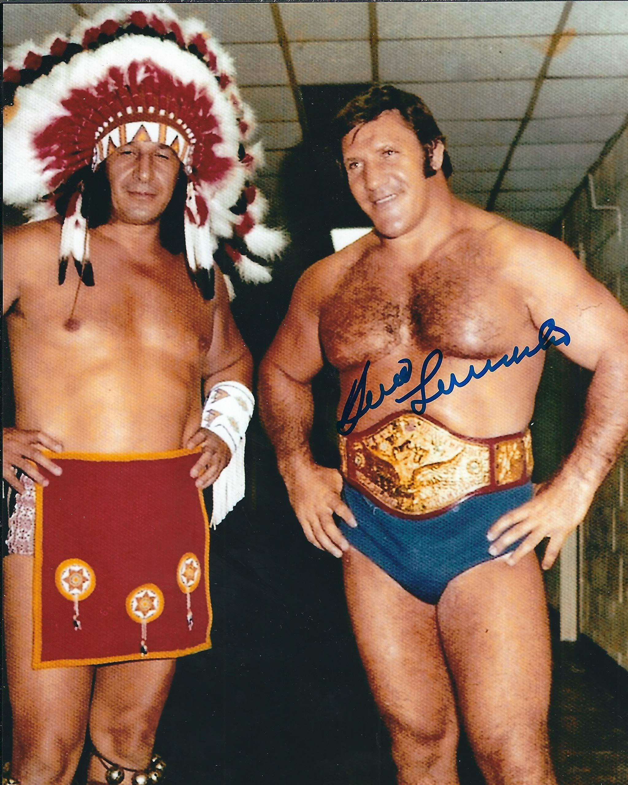 Autographed Bruno Sammartino WWF 8x10 Photo with COA