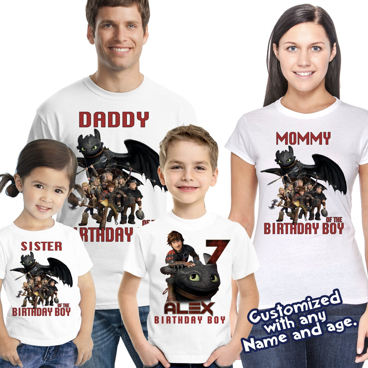 How To Train Your Dragon Birthday Shirt Family Shirts