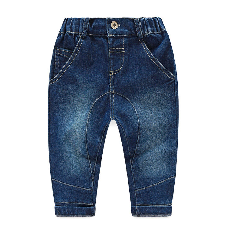 CHIC-CHIC Ensemble Gar/çon B/éb/é 2pc Combinaison Chemise Carreau Pantalons Jeans Pull Longues Manches Haut