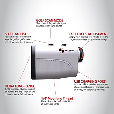 Saybien Rechargeable Golf Rangefinder with Slope