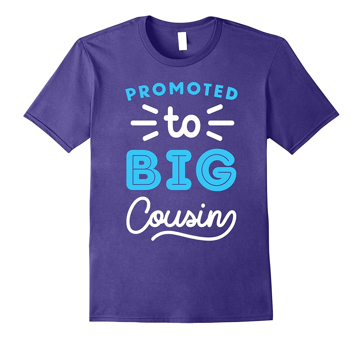 Promoted To Big Cousin Shirt Cousin Shirts For Kids Blue-Art