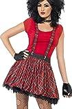 Smiffys Déguisement Femme, Kit du punk, Tartan, avec tutu, brassards et mitaines, 35520