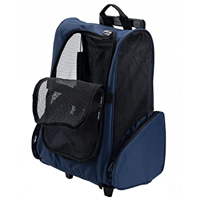 Pettom Roll Around 4-in-1 Pet Carrier Travel Backpack