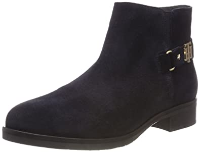 purchase cheap e6d80 a2f3a Tommy Hilfiger Damen TH Buckle Suede Bootie Stiefeletten