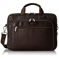 Colombian Leather Dual Compartment Top Zip 16